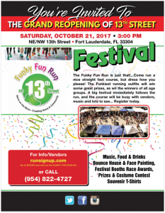13th Street Grand Re-Opening Festival @ NE 13TH STREET AT NE 6TH AVENUE T FORT LAUDERDALE | Fort Lauderdale | Florida | United States