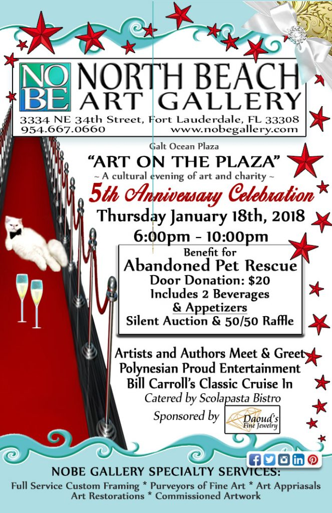 5TH ANNUAL ART ON THE PLAZA 1/18/18 @ NORTH BEACH GLLERY | Fort Lauderdale | Florida | United States