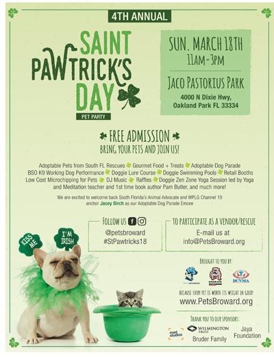 St. Pawtrick's Day Festival @ Jaco Pastorius Park | Oakland Park | Florida | United States