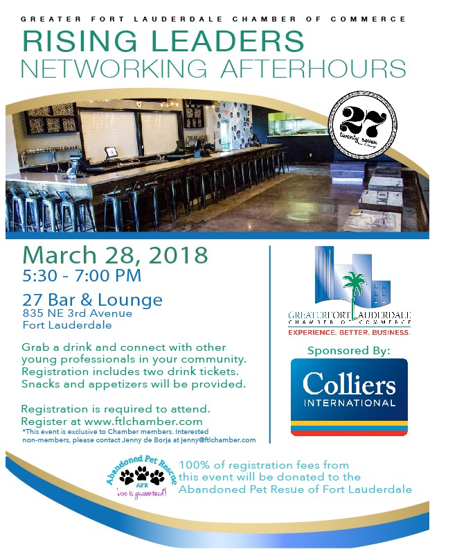 NETWORKING AFTER HOURS 3/28/18 @ 27 Bar & Lounge | Fort Lauderdale | Florida | United States