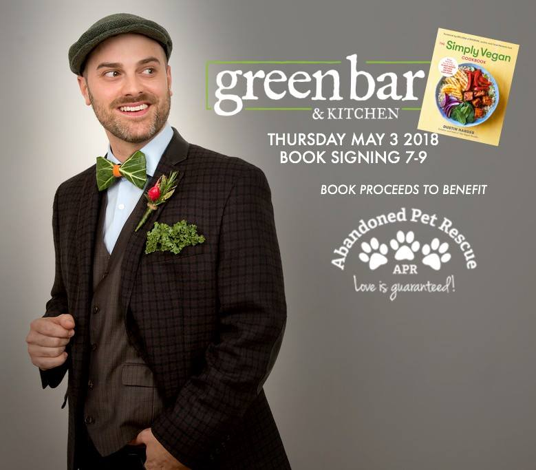 THE SIMPLY VEGAN COOKBOOK - MEET THE AUTHOR 5/3/18 @ Green Bar & Kitchen | Fort Lauderdale | Florida | United States