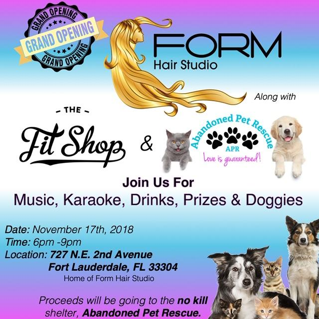 FORM Hair Studio Grand Opening Supports APR (11/17) @ Form Hair Studio | Fort Lauderdale | Florida | United States