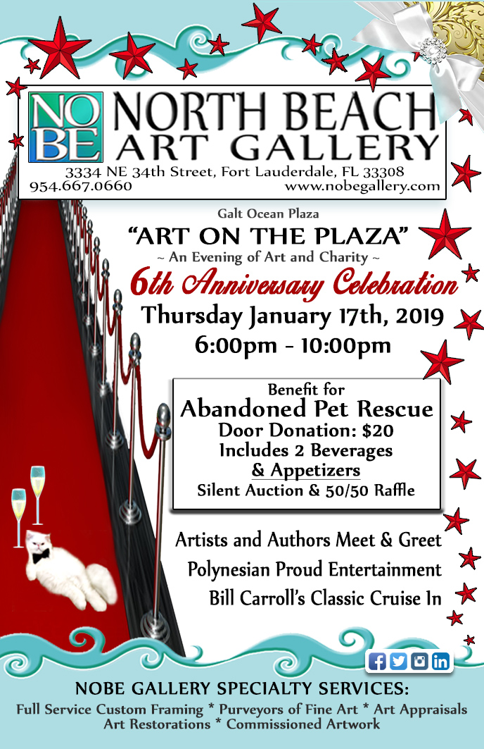ART ON THE PLAZA 1/17/19 @ North Beach Art Gallery | Fort Lauderdale | Florida | United States