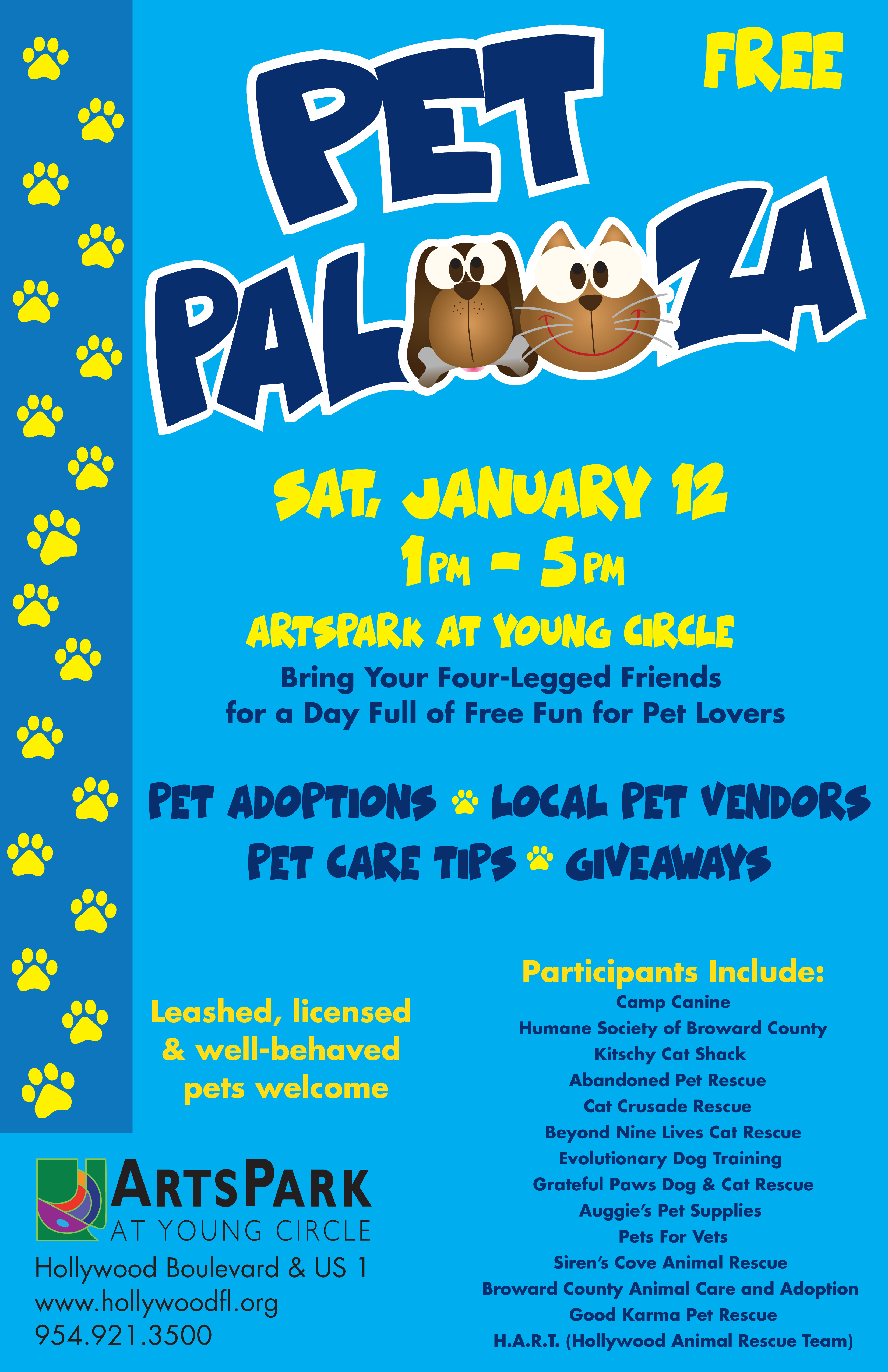 PET PALOOZA @ Arts Park | Hollywood | Florida | United States