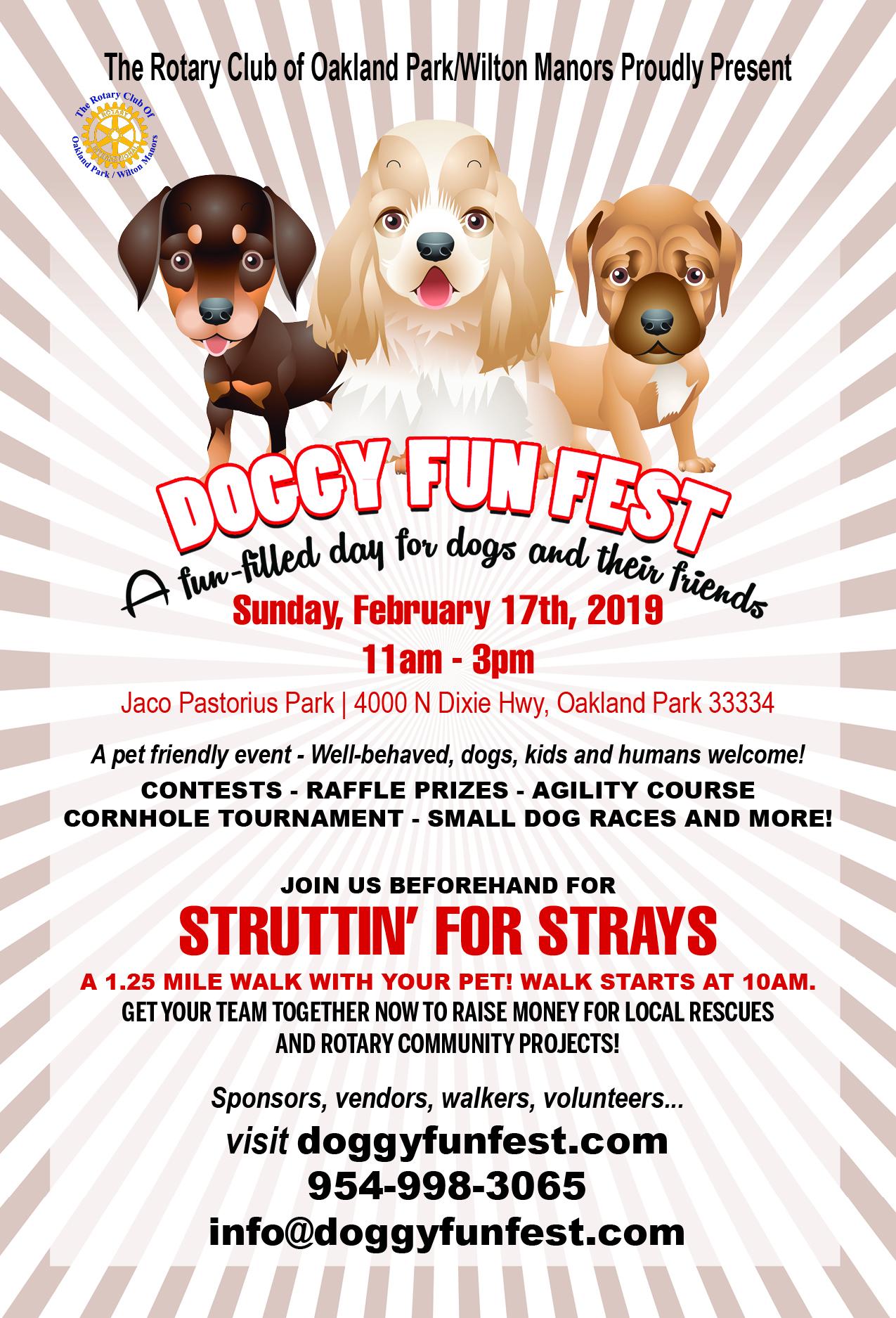 DOGGY FUN FEST 2/17/19 @ JACO PASTORIUS PARK | Oakland Park | Florida | United States