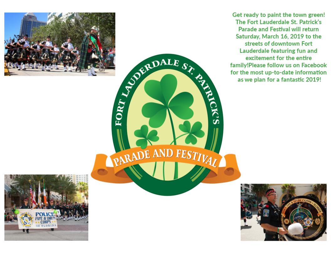 St. Patrick's Day Festival 3/16/19 @ huizenga park | Fort Lauderdale | Florida | United States