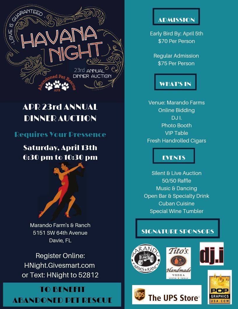 HAVANA NIGHT 4/13/19 @ Mirando Farms & Ranch | Davie | Florida | United States