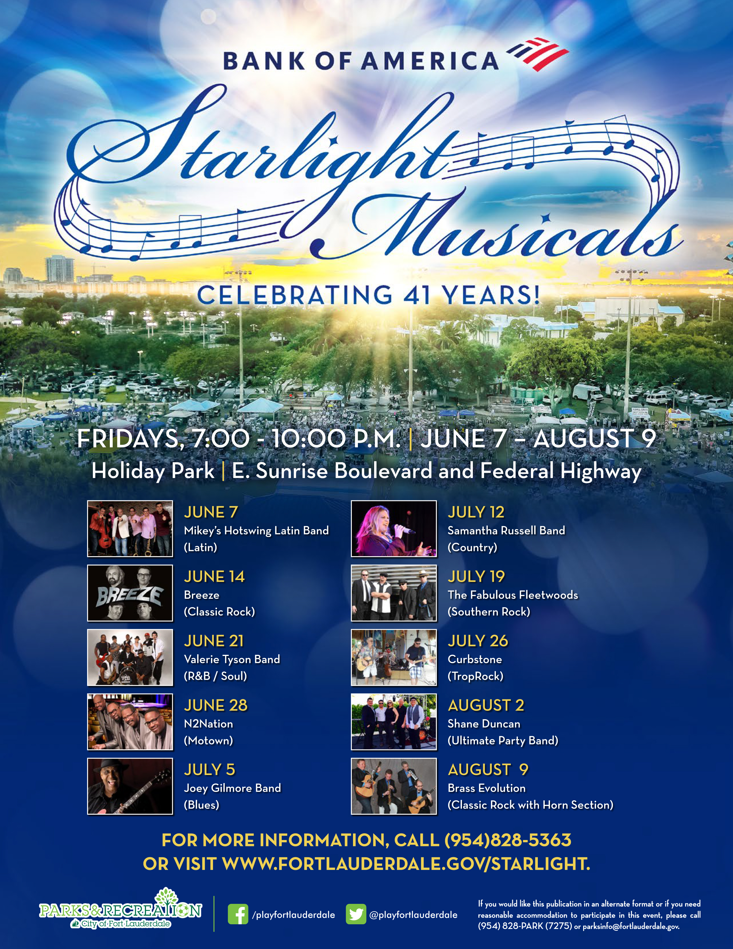 STARLIGHT MUSICALS 6/7/19 - 8/9/19 @ Holiday Park | Fort Lauderdale | Florida | United States