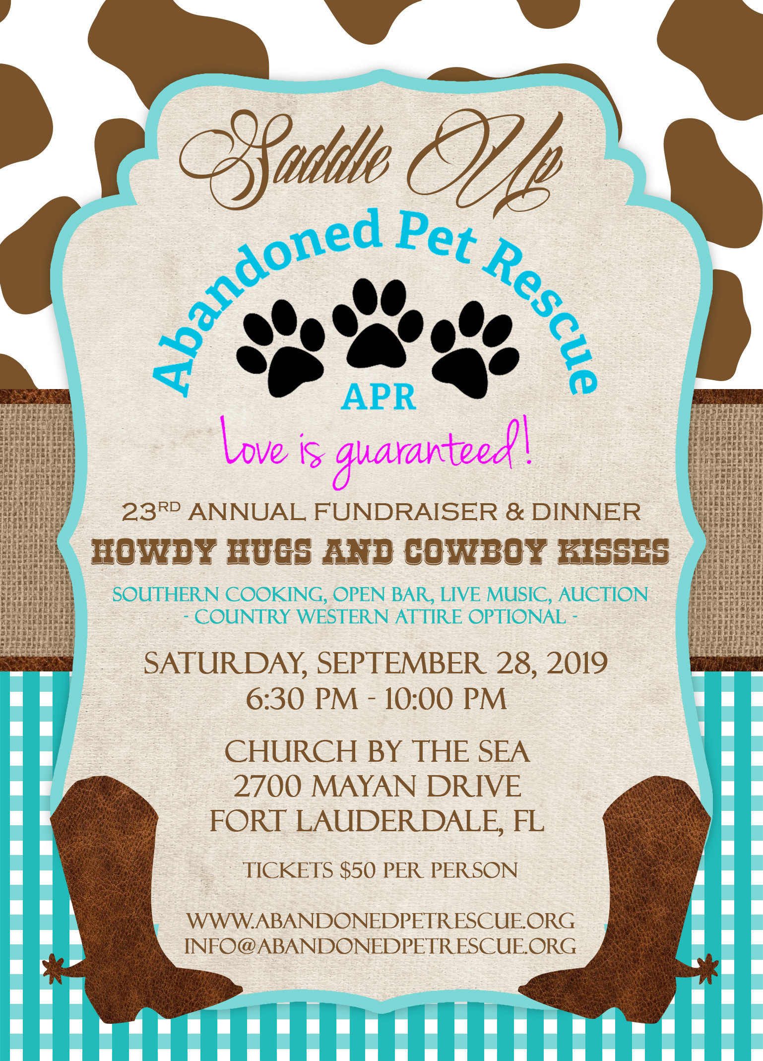 HOWDY HUGS & COWBOY KISSES (9/28/19) @ Church By The Sea | Fort Lauderdale | Florida | United States