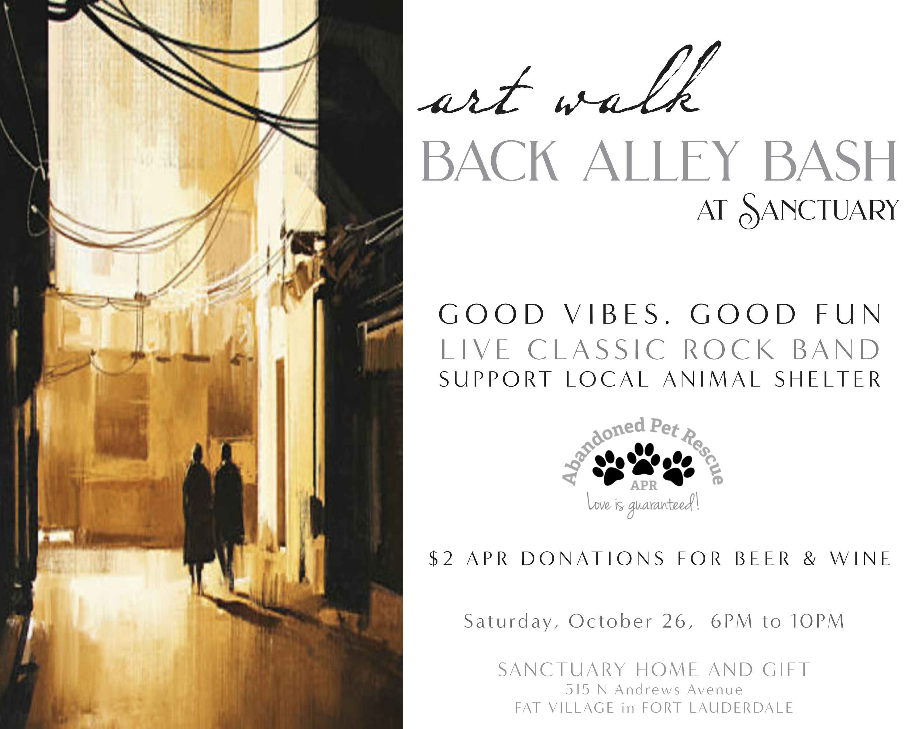 Art Walk BACK ALLEY BASH (10/26/19) @ Sanctuary Home & Gift | Fort Lauderdale | Florida | United States