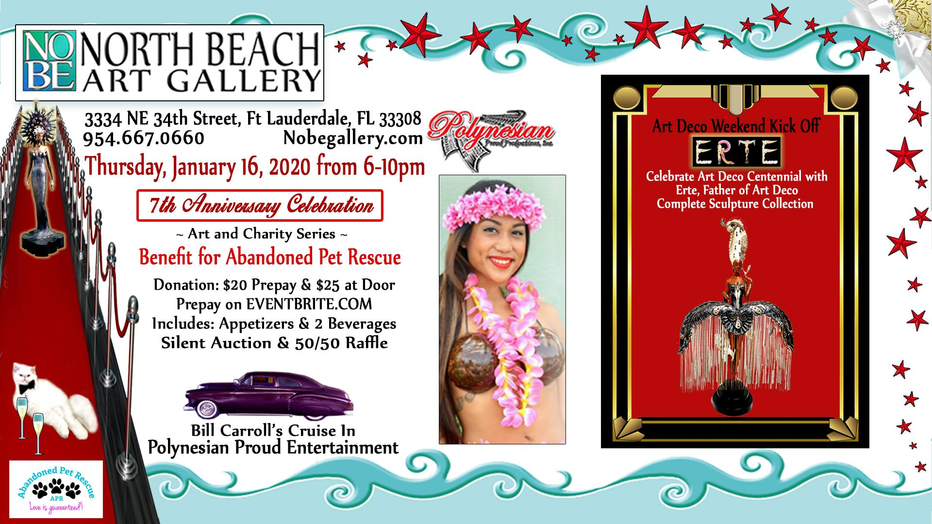 NORTH BEACH GALLERY 7TH ANNUAL CELEBRATION (1/16) @ North Beach Art Gallery | Fort Lauderdale | Florida | United States