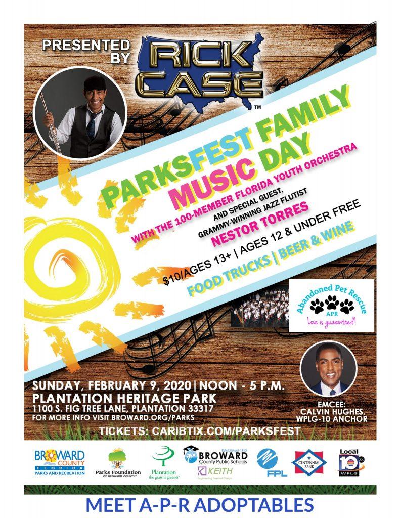 PARKSFEST FAMILY MUSIC DAY (2/9/20) @ Plantation Heritage Park | Plantation | Florida | United States