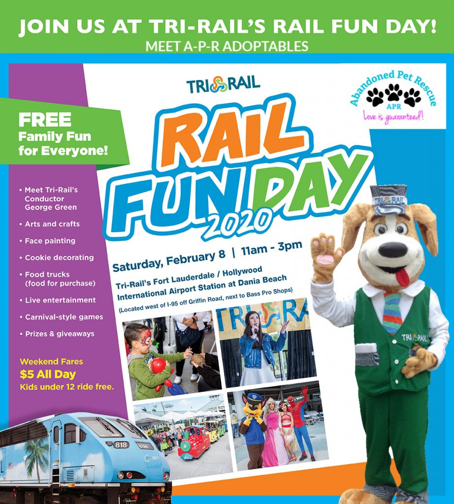 Tri-Rail's Rail Fun Day (2/8/20) @ TI-RAIL FORT LAUDERDALE/HOLLYWOOD INTERNATIONAL AIRPORT STATION AT DANIA BEACH | Dania Beach | Florida | United States