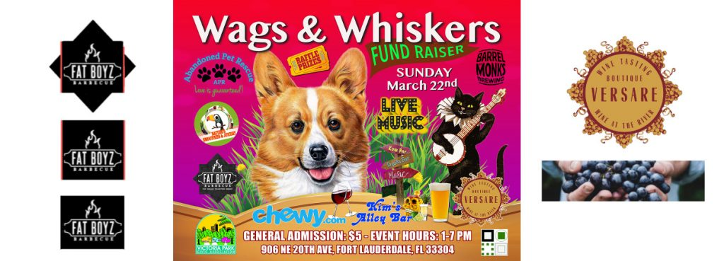 WAGS & WHISKERS BBQ ADOPTION EVENT (3/22) @ VERSARE WINE TASTING BOUTIQUE | Fort Lauderdale | Florida | United States