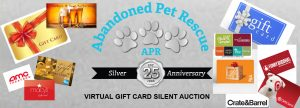 APR'S VIRTUAL GIFT CARD AUCTION (May 22 - May 29) @ VIRTUAL   Monterey   California   United States