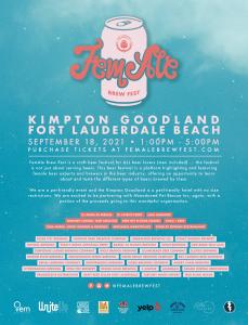 Fem-Ale Brewfest (9/18) @ Kimpton Goodland Fort Lauderdale Beach | Fort Lauderdale | Florida | United States